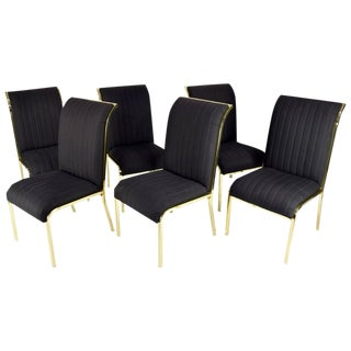 Set of Six Design Institute of America 'DIA' Dining Chairs in Brass Finish