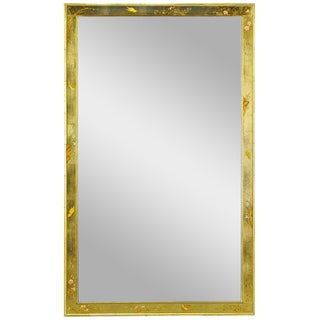 "50"" LaBarge Hand Painted & Gilt Beveled Wall Mirror"