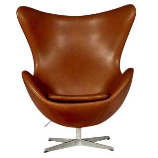 Arne Jacobsen for Fritz Hansen Leather Egg Chair