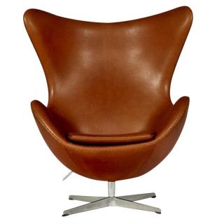 Arne Jacobsen for Fritz Hansen Leather Egg Chair