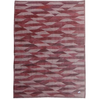 "Hand Knotted Modern Kilim by Aara Rugs Inc. - 13'3"" X 9'11"""