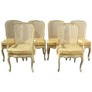 Thomasville French Cane Dining Chairs - Set of 6