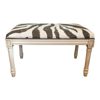 Neoclassical Style Zebra Bench