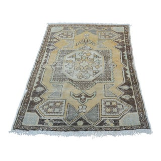 Antique Tribal Faded Rug - 3′11″ × 5′7″