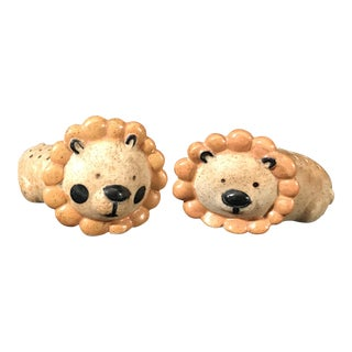 Vintage Lion Toothpick Holders - A Pair