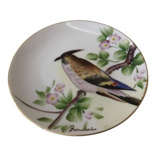 Guidai Japanese Hand Painted Bird Plate