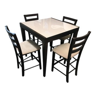 Calligaris Expandable Bar Table & Four Stools