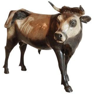 Hand-Painted 18th Century, Bull Figurine