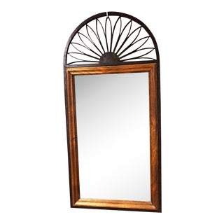 Chapman Spanish Iron & Wood Frame Wall Mirror