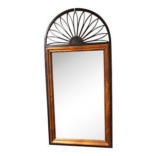 Chapman Spanish Iron & Wood Frame Wall Mirror