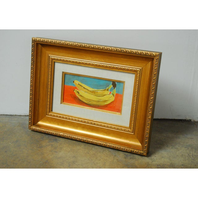 Image of Andy Warhol Style Banana Oil Painting
