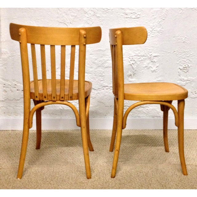 Vintage Bentwood Slat Back Chairs - A Pair - Image 4 of 5
