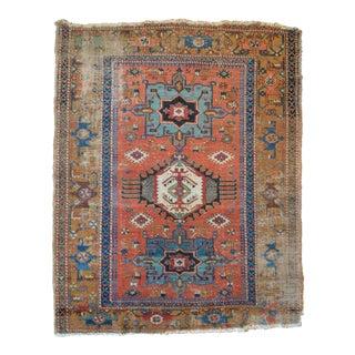 """Antique Persian Heriz Rug - 4'11"""" X 6'3"""""""