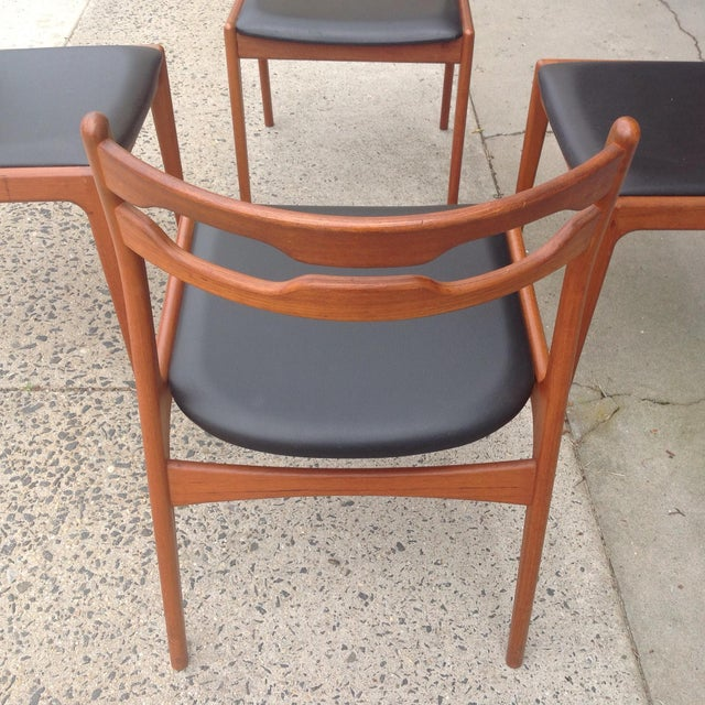 danish modern teak side chairs set of 4 chairish