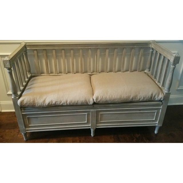 Isabella Bleu Rustic Bench - Image 2 of 5