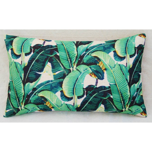Dorothy Draper-Style Banana Leaf Pillows - A Pair - Image 4 of 11