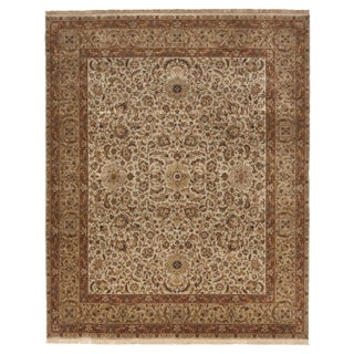 Hand-Knotted Indo-Persian Rug - 8' x 10'
