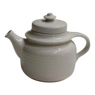 Vintage Arabia Finland Wartsila White Teapot