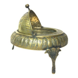 Footed Brass Persian Caviar Server