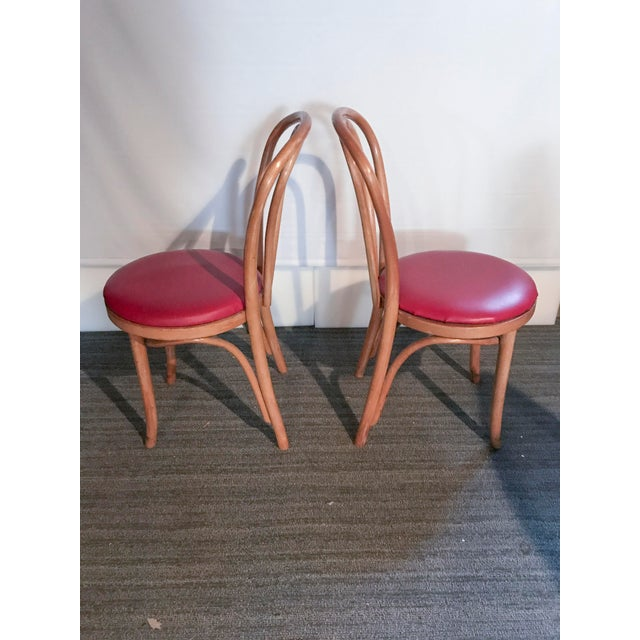 Thonet Style Bentwood Upholstered Chairs - a Pair - Image 4 of 9