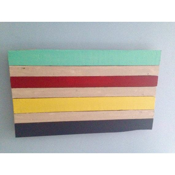 Reclaimed Wood Hudson Bay Inspired Art - Image 2 of 3