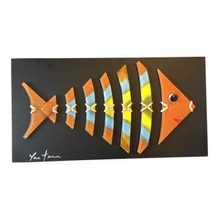 Artisan Glass Fish Wall Art
