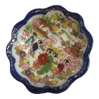 Blue Rim Japanese Porcelain Dish