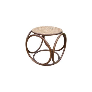 Michael Thonet Mid-Century Wicker Stool