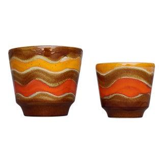 Mid-Century Ceramic Planters - A Pair