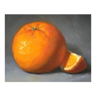 """""""Orange With Slice"""" Small Oil Painting"""