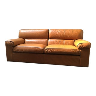 Ethan Allen Modern Leather Sofa