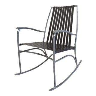 Faux Bamboo Patio Rocker