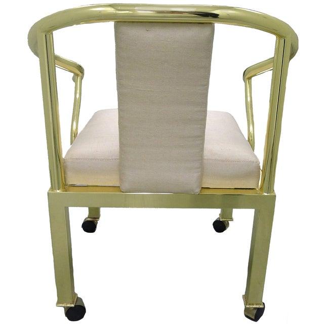 Image of Brass Horseshoe Chair by Mastercraft