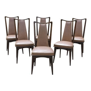 1940s Italian Art Modern Dining Chairs - Set of 6
