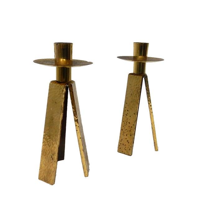3 Legged One Light Candle Holder - Pair - Image 6 of 6
