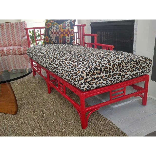Chinese Chippendale Rattan Chaise - Image 4 of 9