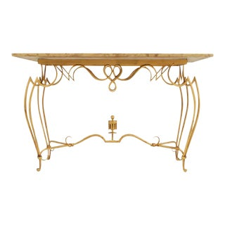 Rare Rene Drouet French Console/Sofa Table