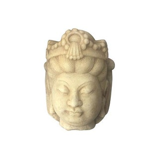 Carved Marble Quan Yin Head