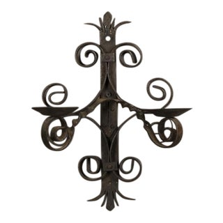 Two Arm Iron Sconce, France c. 1950