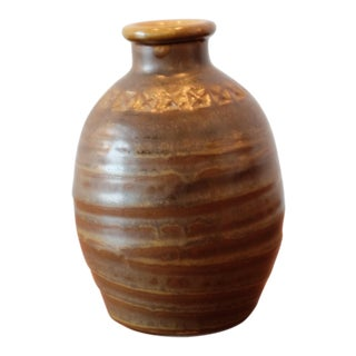 Hand Stamped Studio Pottery Vessel