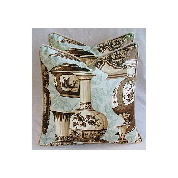Image of Custom Braemore Chinoiserie Vase Pillows - A Pair
