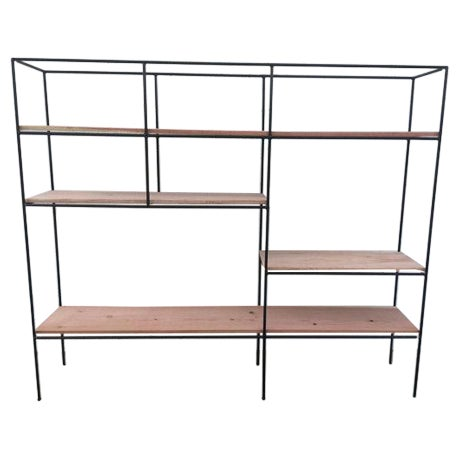Muriel Coleman Style Steel & Wood Wall Unit - Image 1 of 6