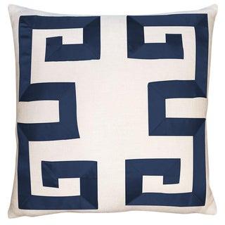 Empire Birch Navy Ribbon Pillow