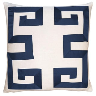 Empire Birch Navy Ribbon Pillow