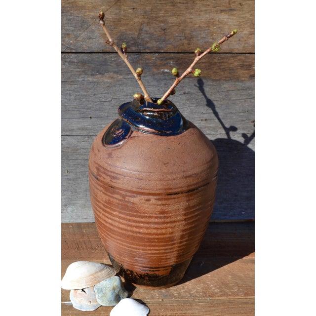 Vintage Hand Thrown Terra Cotta Pottery Vase - Image 5 of 6