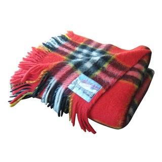 Red Plaid Arno Wool Camp Blanket