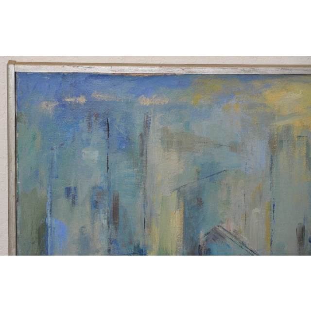 Mid Century Modern Abstract Cityscape by Mary Carey c.1950s - Image 2 of 7