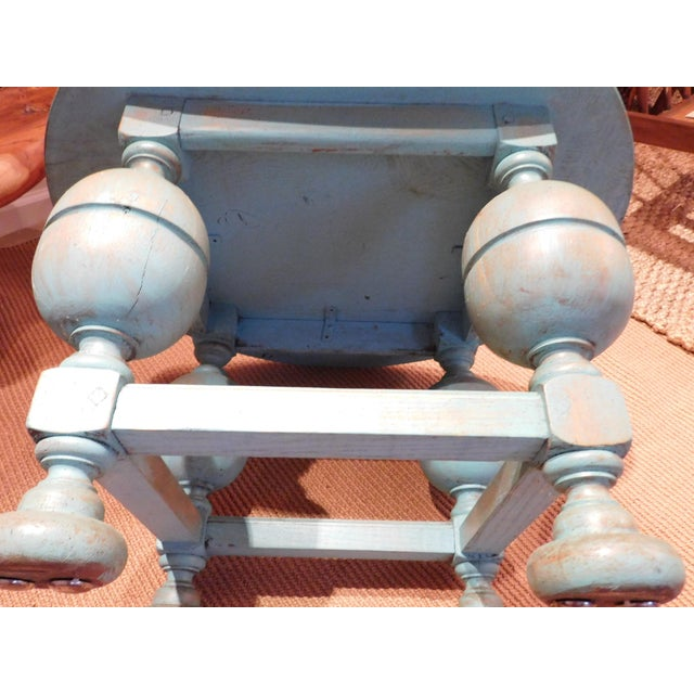 Painted Turquoise Table With Gold Glaze - Image 9 of 9