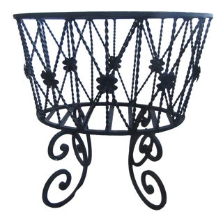Vintage Wrought Iron Plant Stand/Magazine Rack