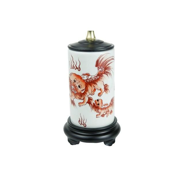 Chinese Porcelain Dragon Vase Lamp - Image 1 of 4